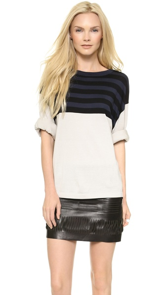 Acne Studios Optic Stripe Sweater - Sand at Shopbop / East Dane