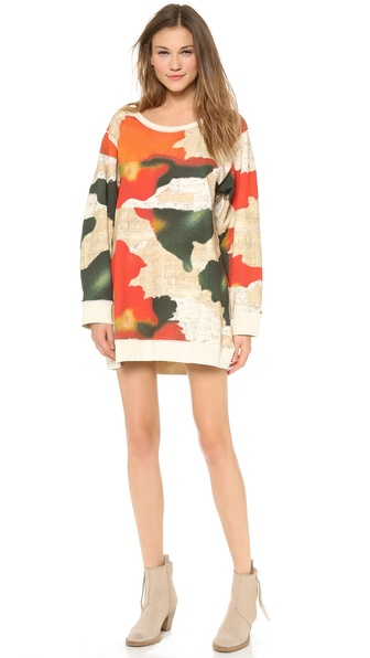 Acne Studios Avedon Print Pullover Dress