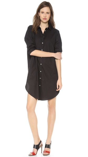 Acne Studios Lash Poplin Shirtdress - Black at Shopbop / East Dane