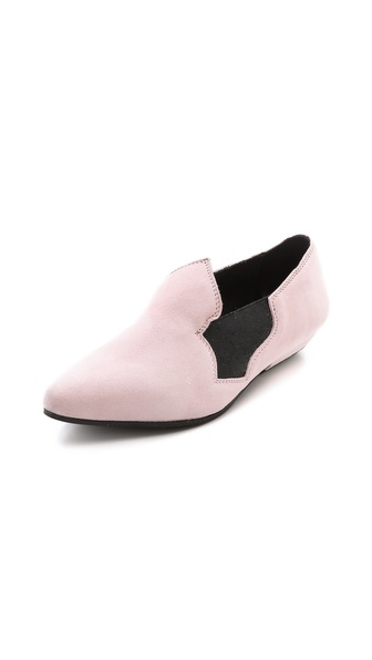 Acne Studios Almita Suede Flats - Rose at Shopbop / East Dane
