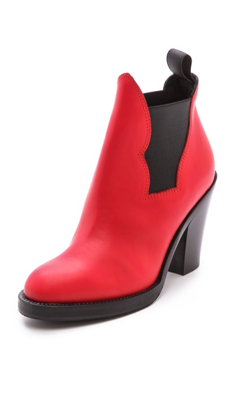 Acne Studios Star Ankle Boots - Red at Shopbop / East Dane