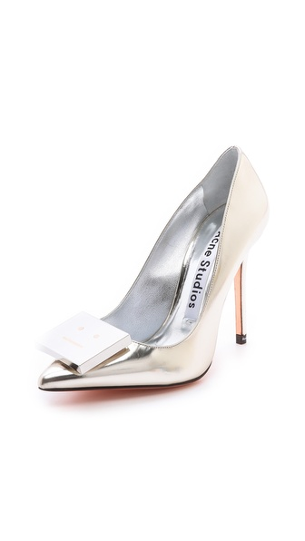 Acne Studios Alivia Metallic Pumps - Metallic at Shopbop / East Dane