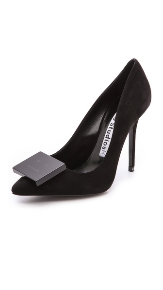 Acne Studios Alivia Suede Pumps - Black at Shopbop / East Dane
