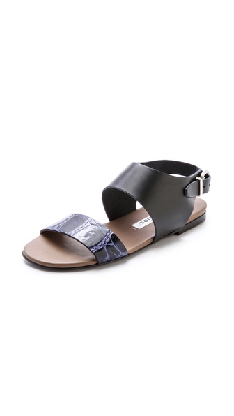 Acne Studios Lottie Flat Sandals - Black/Khaki/Blue at Shopbop / East Dane