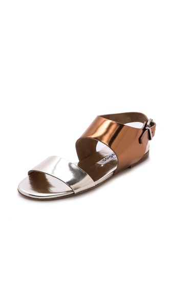 Acne Studios Lottie Metallic Flat Sandals - Metallic at Shopbop / East Dane