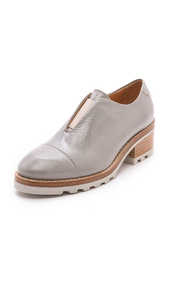Acne Studios Meg Laceless Oxfords - Almond Beige at Shopbop / East Dane