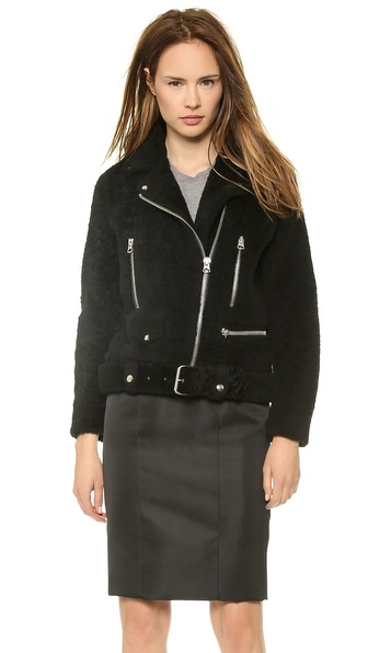 Acne Studios Mock Felted Shearling Jacket