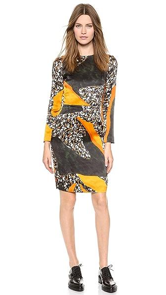 Acne Studios Noble Printed Silk Dress