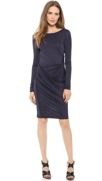 Acne Studios Vied Drape Dress