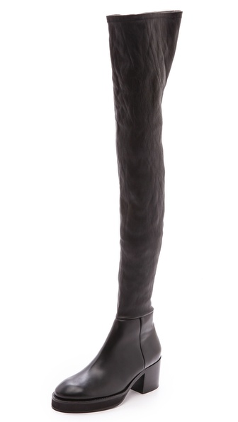 Acne Studios Hiloh Flat Over the Knee Boots