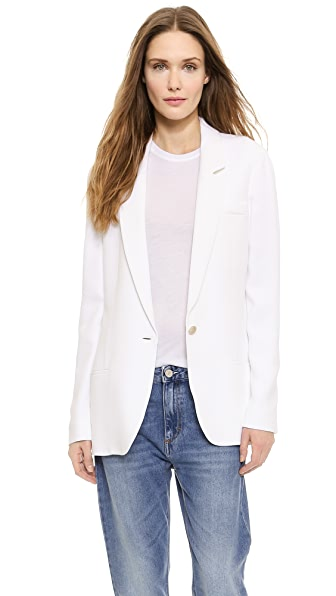 Acne Studios Fearn Crepe Suit Jacket - White