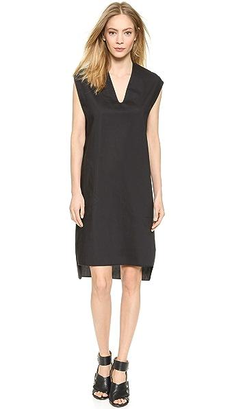 Acne Studios Arts Tech Poplin Dress - Black