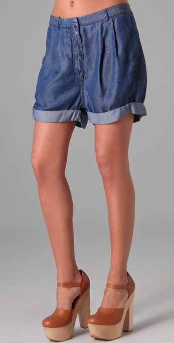 Acne Auris Chambray Shorts