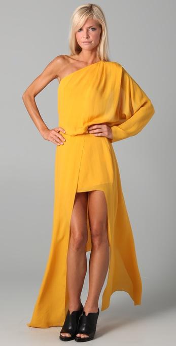Acne Emile Silk Maxi Dress