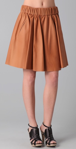 Acne Romantic Lea Leather Skirt