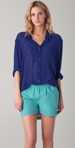 Acne Patti Crepe Blouse
