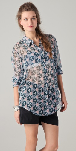 Acne Patti Print Blouse