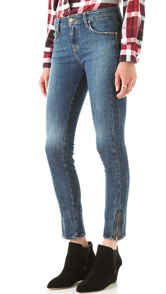 Acquaverde Zip Skinny Jeans