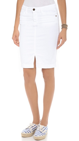 Acquaverde Naomie Denim Pencil Skirt - White at Shopbop / East Dane