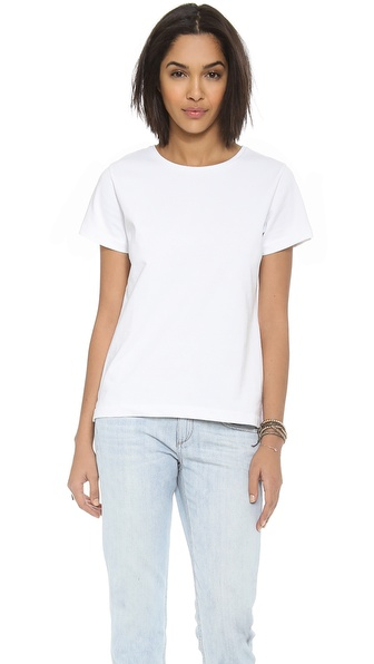 Acquaverde Crew Neck T-Shirt - White at Shopbop / East Dane