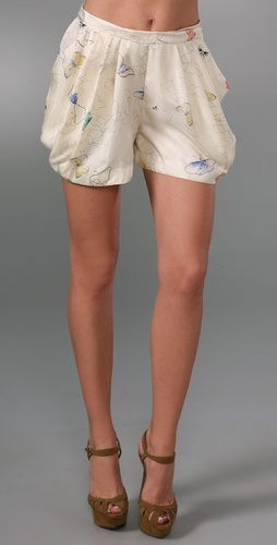 ADAM Emma Side Draped Shorts