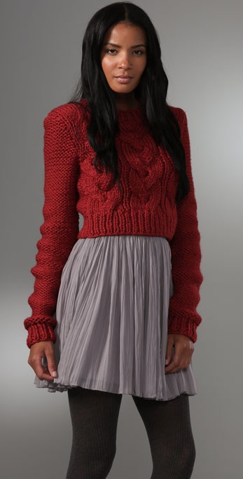 ADAM Cropped Crew Neck Sweater