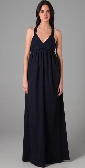 ADAM Basket Weave Long Dress