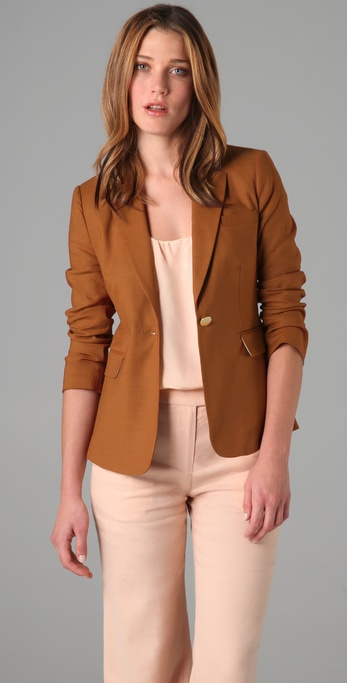 ADAM Stretch Linen Boy Blazer