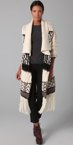 ADAM Long Intarsia Cardigan