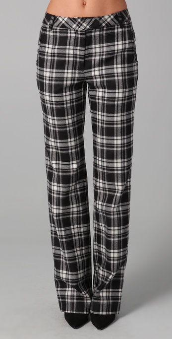 ADAM Plaid Straight Leg Pants