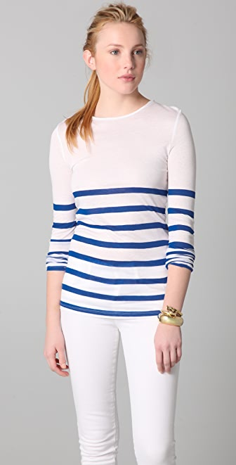 ADAM Long Sleeve Striped Top