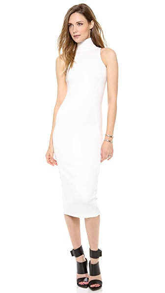 AD Ponte Turtleneck Midi Dress