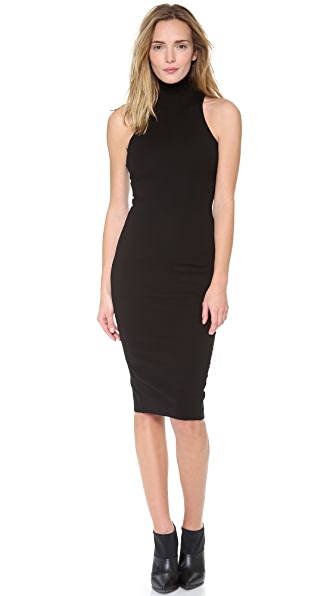 AD Sleeveless Ponte Turtleneck Dress