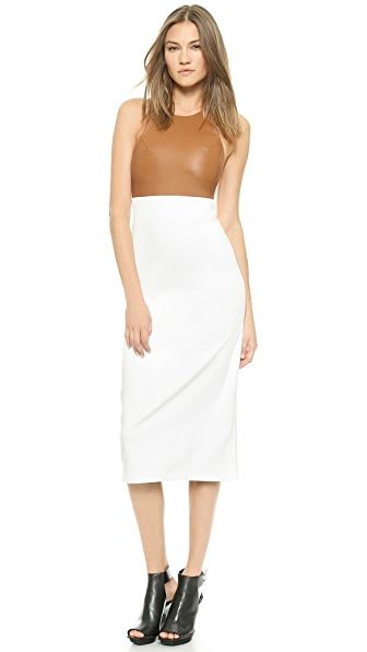 Shop AD online and buy Ad Loose Tank Dress - Camel/White dress online