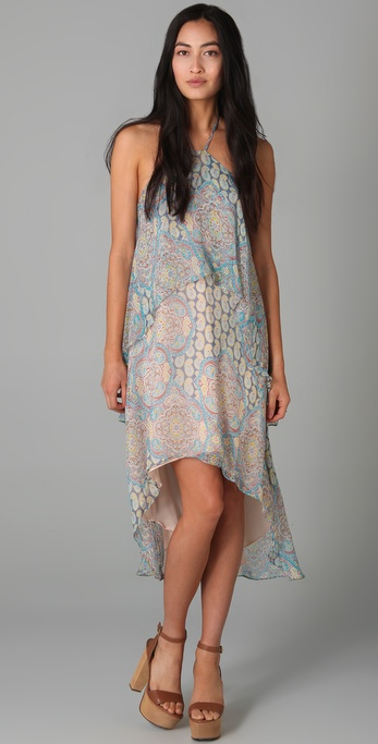 ADDISON Paisley Halter Dress