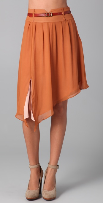 ADDISON Belted Skirt