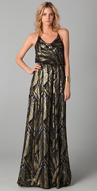 ADDISON Silk Chiffon Maxi Dress