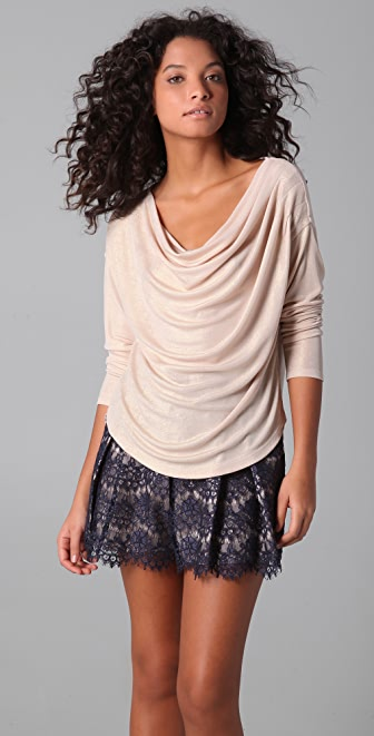 ADDISON Pleated Cowl Top