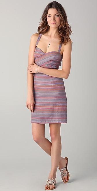 ADDISON Striped Linen Dress