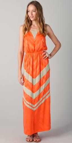ADDISON Strapless Maxi Dress