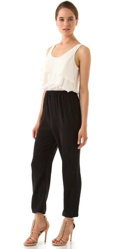 ADDISON Ruffle Top Jumpsuit