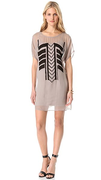 ADDISON Aztec Detail Dress