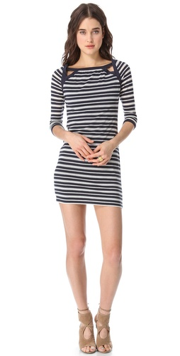 ADDISON Pointelle Jersey Dress