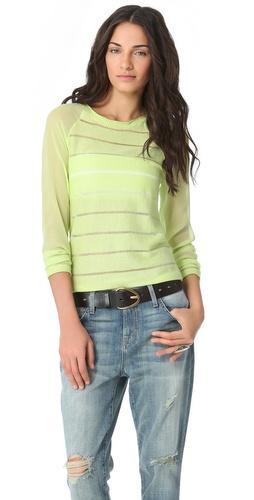 ADDISON Mixed Media Sweater