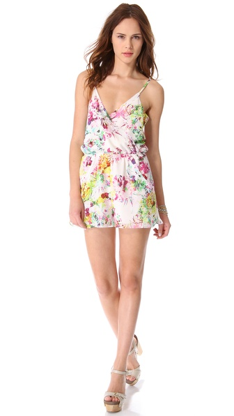 ADDISON Downey V Neck Romper