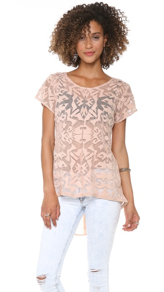 ADDISON Cairo Lace Draped Top