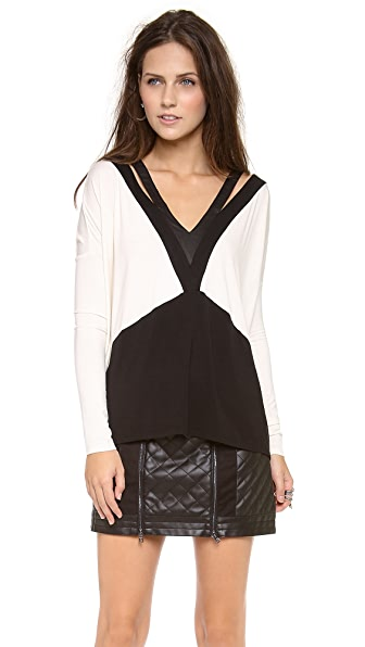 ADDISON Langley Cutout Top