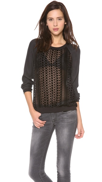 ADDISON Quinn Raglan Detail Top