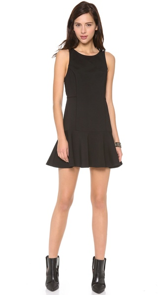 ADDISON Carmen Seamed Fit & Flare Dress