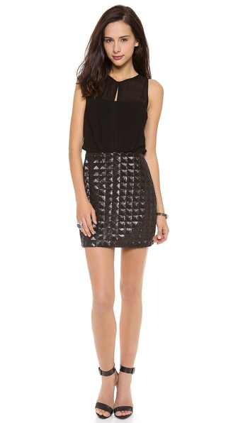 ADDISON Winona Contrast Blouson Dress